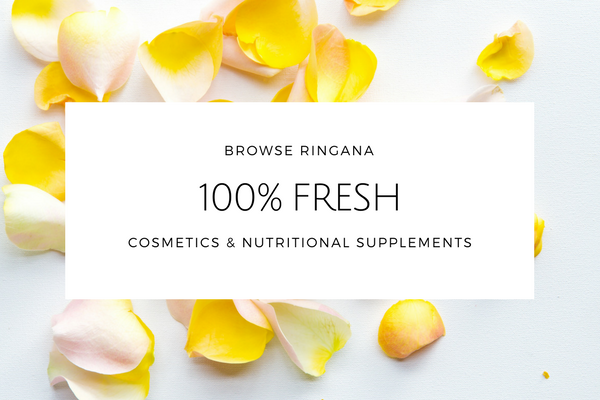 Banner with 'Browse Ringana 100% Fresh' written on it