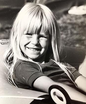 Sabine de Potter as a child