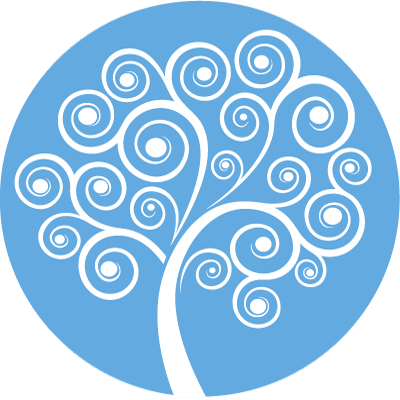 Rainbow Mind Tree Symbol - blue