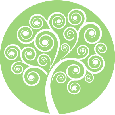 Rainbow Mind Tree Symbol - green