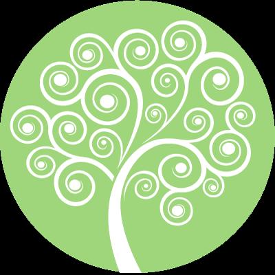 Rainbow Mind Tree Symbol - green
