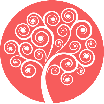 Rainbow Mind Tree Symbol - red