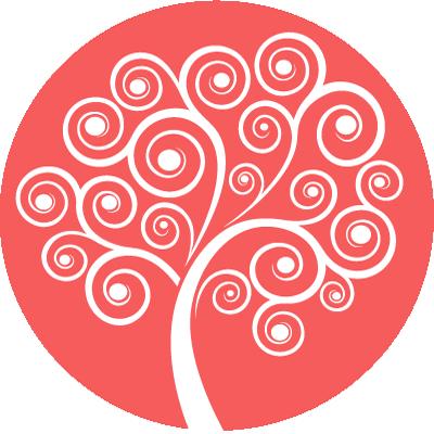 Rainbow Mind Tree Symbol - red